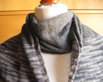 Lace scarf scarf shawl knitting cloth scarf knitted Cape grey flecked Alpaca