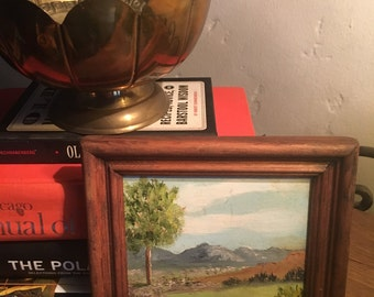 Charming Framed Small Sized Painted Landscape