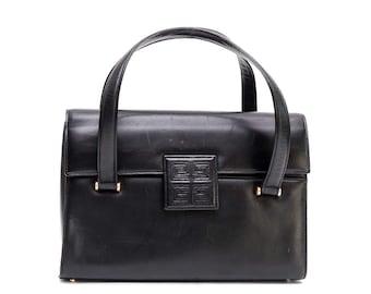 1970s Givenchy black leather handbag