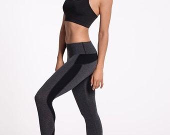 FREE SHIPPING-Cotton Feel Cozy Leggings-Lounge Wear-Running Leggings-Workout Tights-Slimming Black Grey Leggings-Cotton Leggings-Yoga Pants