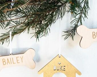Custom Dog Home for the Holidays Ornament