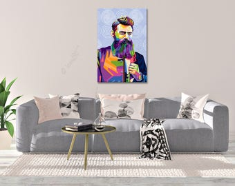 Wall ART - In Memory Of Ned Kelly Australia - personalized gift - art print - pop art - home decor - reproduction - canvas wall art - gift