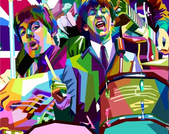 Beatles – The Beatles – Beatles Art – Beatles Gifts – Beatles Poster – Beatles Print - 12x18 (JS00337)