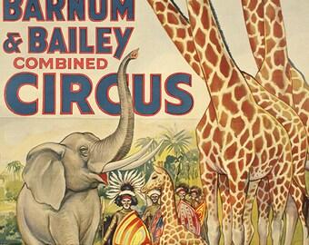 Ringling Bros - Barnum & Bailey - Circus Poster - Wall Art - Circus Print - Circus Art - Circus Lover - 12x18 - 24x36 (JS00039)