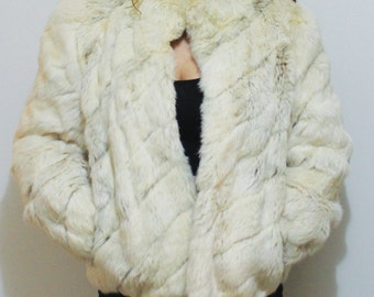 1980s Rabbit Fur Coat/ Jacket