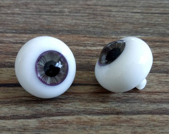 Made to order  BJD Eyes 10 mm-24 mm Glass Purple Doll Eyes with stripes iris Dreamlike BJD Eyes with a handle for Doll Parts