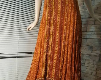 Maxi earth color dress,dress made in India,vintage summers dress,Size large ,hippie dress,festival dress(2)