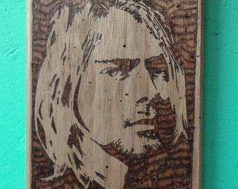 Kurt Cobain Woodburning