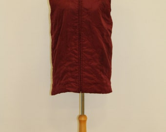 Quilted Butterfly Gilet (Burgundy)
