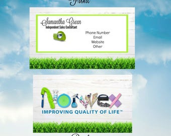 Norwex Green Cleaning Business Cards/Environmentally Friendly cleaning/