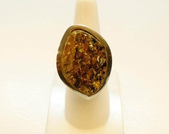 Amber Ring - Amber Silver Ring - Amber Jewelry