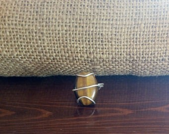 Ring with tiger eye