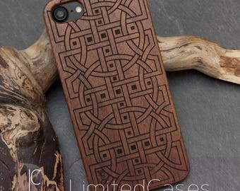 "IPhone 7 with real Walnut - wood case - Edition, laser-engraved ""Relations"""