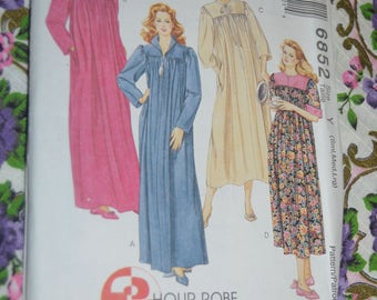 McCalls 6852 Misses Robe in Two Lengths Sewing Pattern - UNCUT  - Size Sml MEd Lrg
