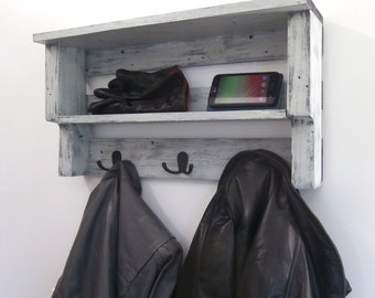 Entryway Coat Rack With Storage U2013 Coastal Shelves With Hooks   Black And  Gray Wall Mounted Part 98