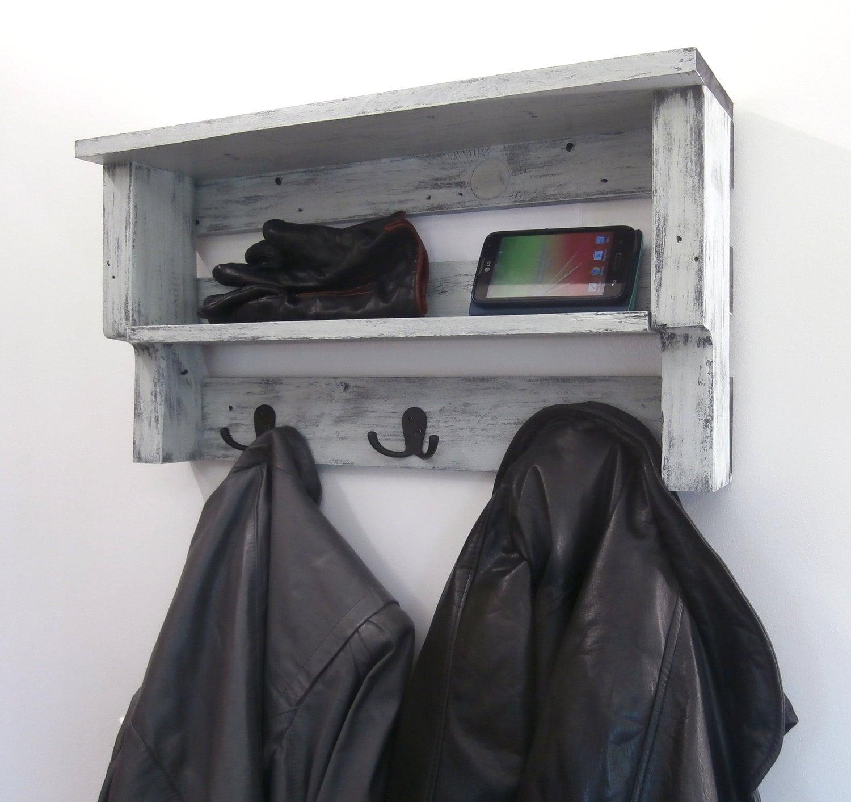 Entryway coat rack with storage coastal shelves with hooks zoom amipublicfo Images