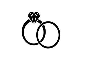 Wedding ring svg  Etsy