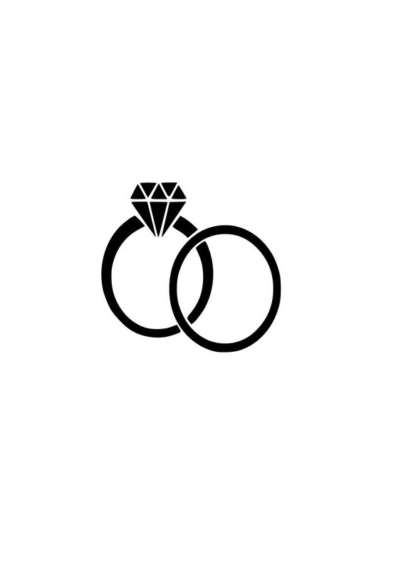 WEDDING rings svg Bride Groom outline SVG Digital Download