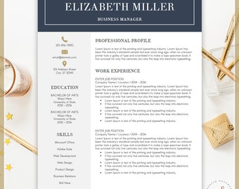 professional resume template cv template for ms word creative resume modern resume design