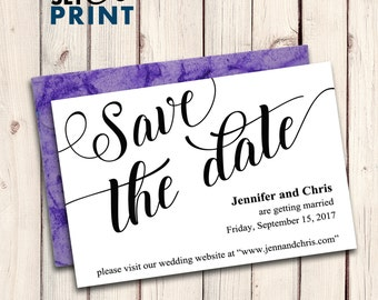 Save The Date Printable Editable Text PDF Digital File, Save the Date Template, Rustic Save the Date Wedding Printable Stationery JSP42