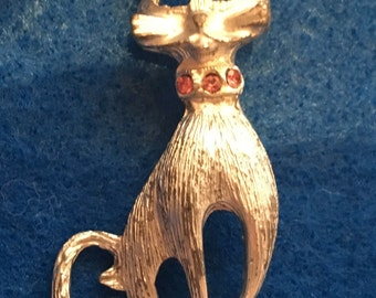 Vintage Cat Brooch