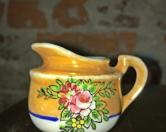 1940s Noritake Lusterware Petite Creamer - Made in Occupied Japan