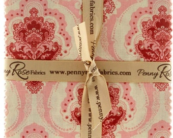 "Beaujolais 5"" Stackers/Charm Pack by Sue Daley Designs for Penny Rose Designs - 42, 5"" x 5"" Precut Fabric Squares"