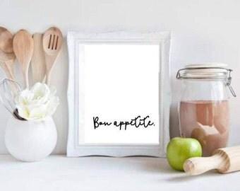 Bon Appetit Printable