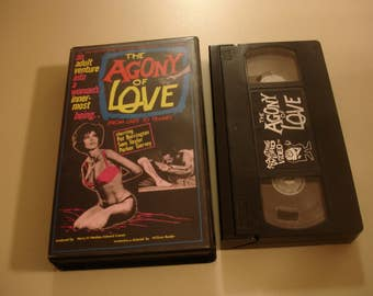 The  Agony Of Love~SOMETHING WEIRD Video~VHS~Rare~Oop~1966~Adults Only