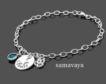 LITTLE star 925 kids bracelet silver chain with name engraved christening jewellery