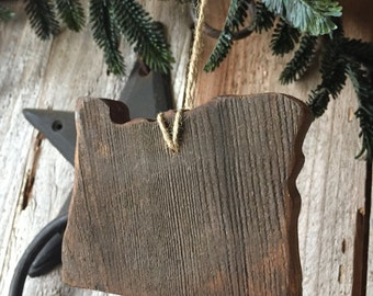 Reclaimed Wood Oregon Ornament