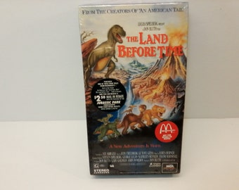 The Land Before Time VHS Movie Tape 1994 Vintage Animated Classic Dinosaur Movie Rare McDonald's Sponsored Edition Rare New Sealed Unopened