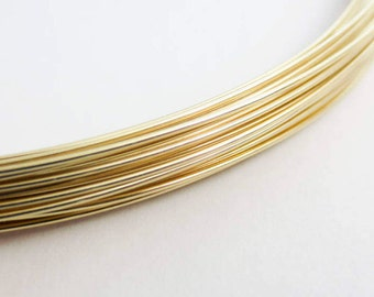 14k/20 Gold Filled 23 Gauge Round Wire Half Hard H/H HH Jewelry Findings Components Supplies Wholesale Sale Bulk By The Foot