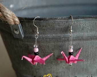 (Crane) - G007 origami earrings