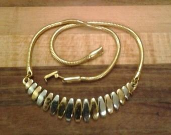 Vintage Trifari Two Toned Choker Necklace