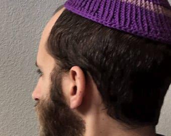 Queer Pride purple & lavender kippah/yarmulke (medium size) lgbt lgbtqipa LGBTQ pride