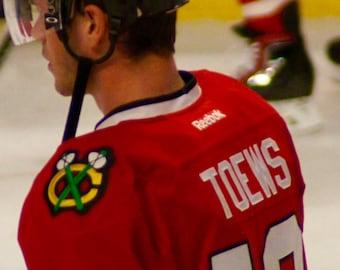Jonathan Toews, Chicago Blackhawks, Hockey Decor, Photography