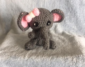 small Elephant crochet plush