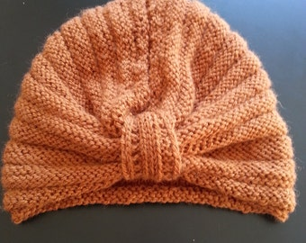 Turban in Virgin wool Cap