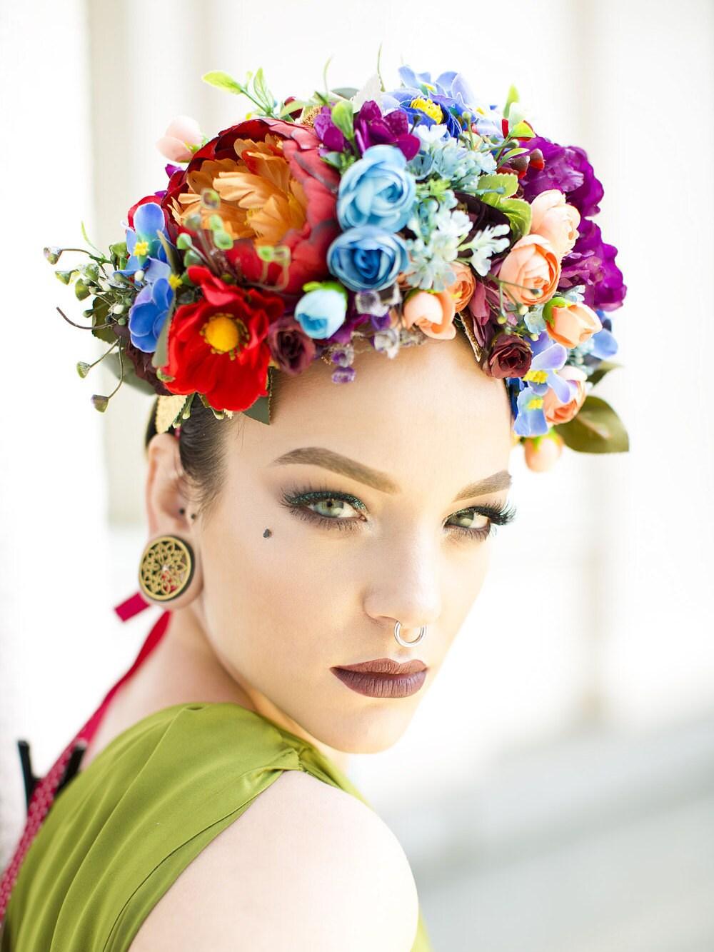 Headbands turbans beautiful rich boho style flower crown headband izmirmasajfo