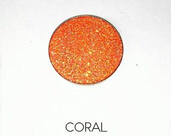 Pressed Glitter Eyeshadow - 'Coral'