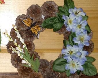 Handmade spring wreath