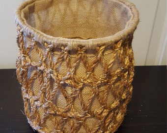 Decorative Rope Storage Basket Set of 3