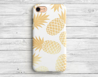 Gold Pineapple iPhone 7 Case Pineapple iPhone 6 Case iPhone 7 Plus Pineapple  iPhone Case iPhone 6s Golden Pineapple Case iPhone 6 Plus Case