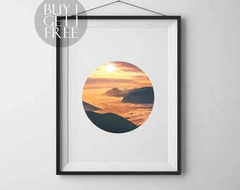 Circle print Circle photography Circle wall print Circle photo Sunset photography Sunset photo Nature print Printable wall art Nature art