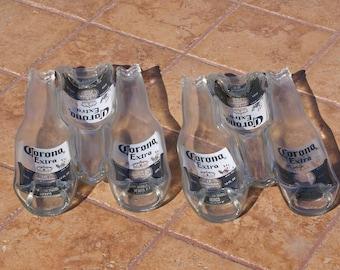 Slumped Triple Beer Bottle Dish