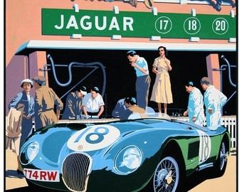 Jaguar C Type 1953 Classic car print