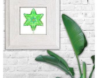 Heart Chakra Mandala • for Meditation and Yoga, Printable Artwork, Instant Download, 5X5 inch, Digital Wall Art, Geometric Mantra Artwork
