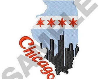 Chicago Illinois - Machine Embroidery Design