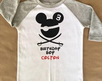 Disney Birthday Boy Pirate Shirt